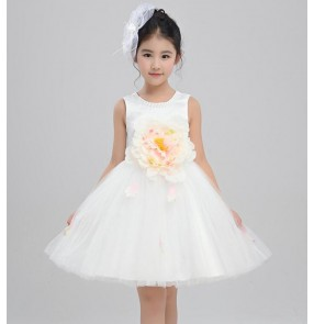 Girls flower dresses princess jazz dance dresses ballet dress chorus stage performance drama cosplay fairy dress